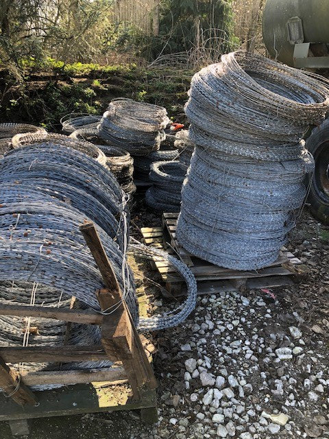 Galvanized razor wire - ex military vehicles for sale, mod surplus