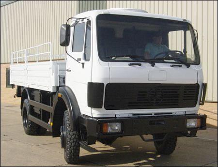 Mercedes 1017 4x4 Drop Side Cargo Truck - ex military vehicles for sale, mod surplus