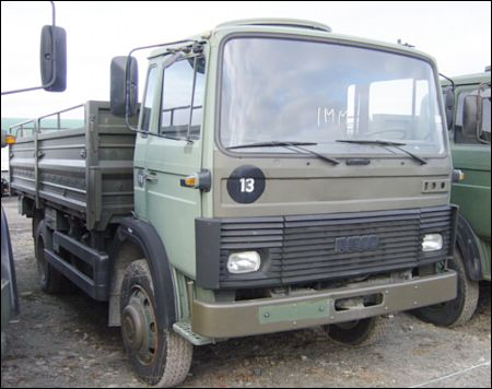Iveco 110-17 4x4 Drop Side Cargo Truck - ex military vehicles for sale, mod surplus