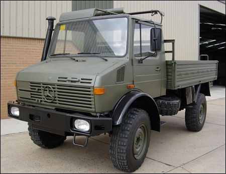 MoD Surplus, ex army military vehicles for sale - Mercedes Unimog U1300L 4x4 Drop Side Cargo Truck