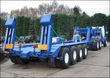 M747 Semi Low Bed Trailers - ex military vehicles for sale, mod surplus
