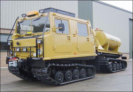 Hagglund BV206 all terrain tanker truck - ex military vehicles for sale, mod surplus
