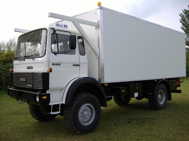 Iveco 110-16 4x4 refrigerated cargo truck - ex military vehicles for sale, mod surplus