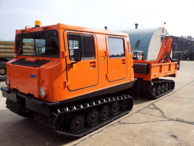 military vehicles for sale - Hagglunds Bv206 Load Carrier with MaxiLift PH270 Crane