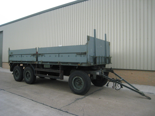 MoD Surplus, ex army military vehicles for sale - Schmitz tri axle draw bar trailer