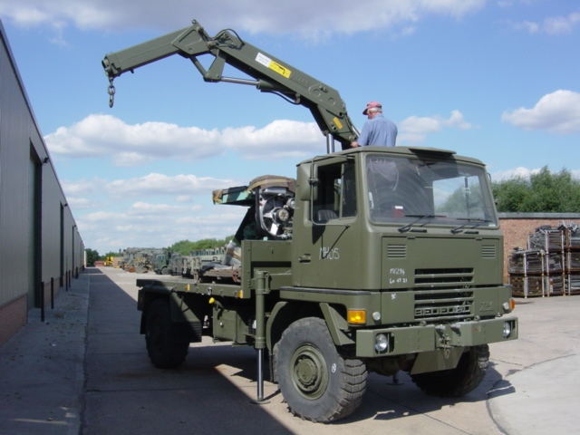 military vehicles for sale - Bedford TM 4x4 Cargo with Atlas Crane