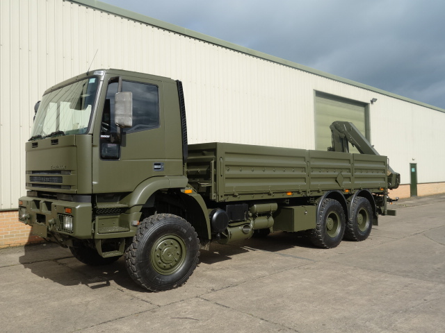 Iveco Eurotrakker 6x6 Cargo With Rear Mounted Crane  - ex military vehicles for sale, mod surplus