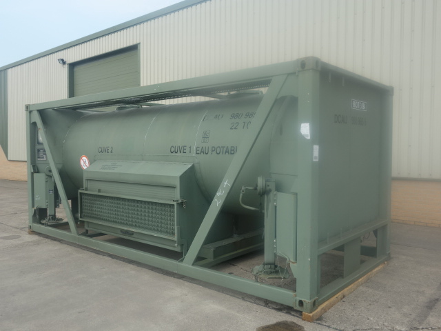 20FT ISO (Drops) Potable Water Tank Containers - ex military vehicles for sale, mod surplus