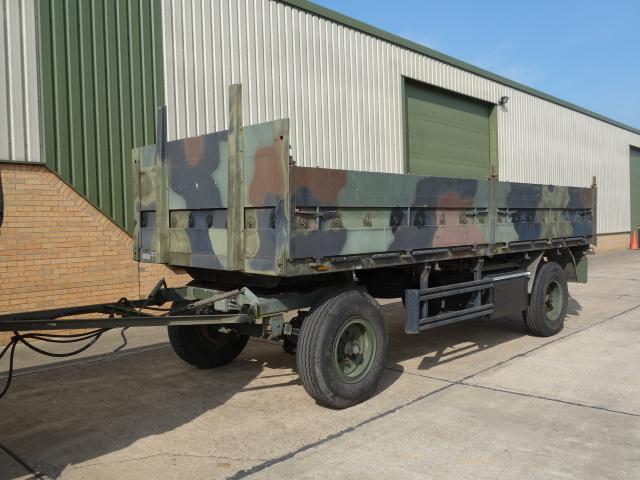 Kassbohrer 2 axle draw bar cargo trailer - ex military vehicles for sale, mod surplus
