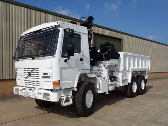 Volvo FL12 tipper with protected cab - ex military vehicles for sale, mod surplus