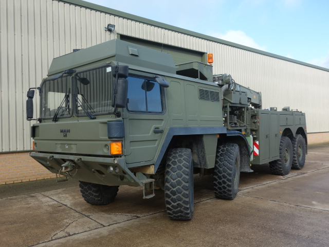MoD Surplus, ex army military vehicles for sale - MAN SX45 8x8 recovery truck