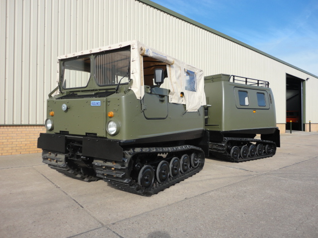 MoD Surplus, ex army military vehicles for sale - Hagglunds Bv206 Soft Top (Front) & Hard Top (Rear)