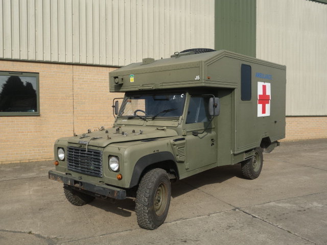 MoD Surplus, ex army military vehicles for sale - Land Rover Defender 130 Wolf RHD Ambulance