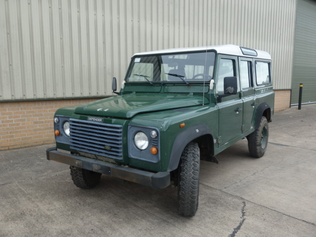 Land rover 110 LHD station wagon TD5 - ex military vehicles for sale, mod surplus