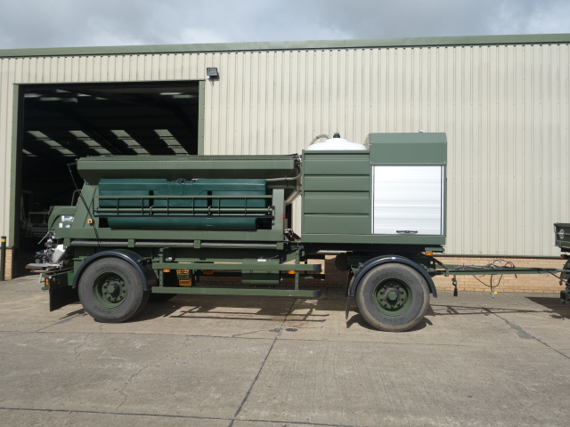 MoD Surplus, ex army military vehicles for sale - Schmidt towed gritter trailer