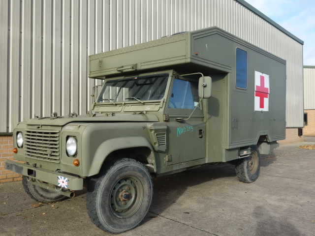 Land Rover 130 Defender Wolf LHD Ambulance - ex military vehicles for sale, mod surplus