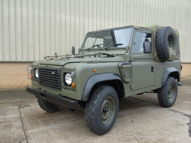 Land rover 90 RHD wolf (Soft Top) - ex military vehicles for sale, mod surplus