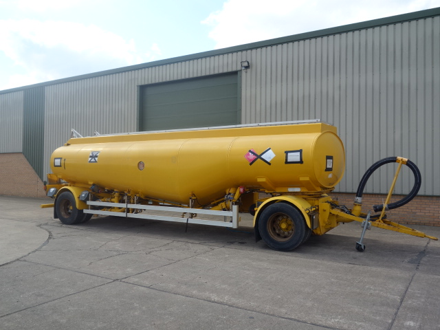 military vehicles for sale - 24,000 Litre drawbar tanker trailer
