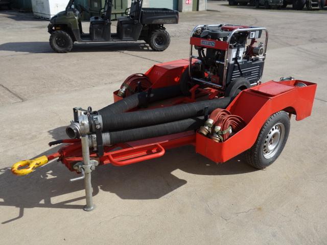 Godiva Fire Service Portable Water Pump Trailer - ex military vehicles for sale, mod surplus