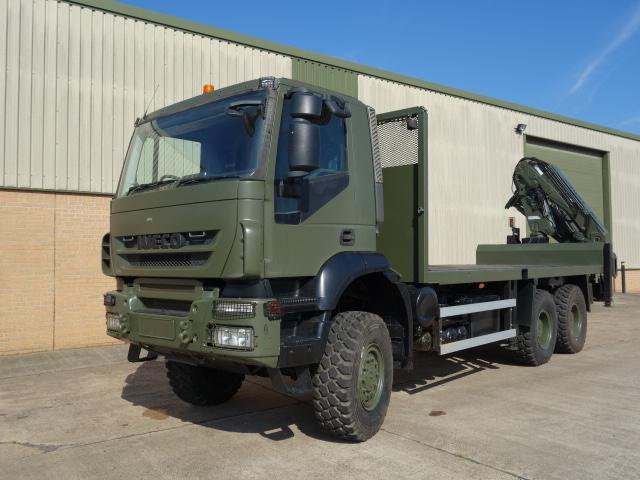 Iveco Trakker 6x6 crane truck  - ex military vehicles for sale, mod surplus