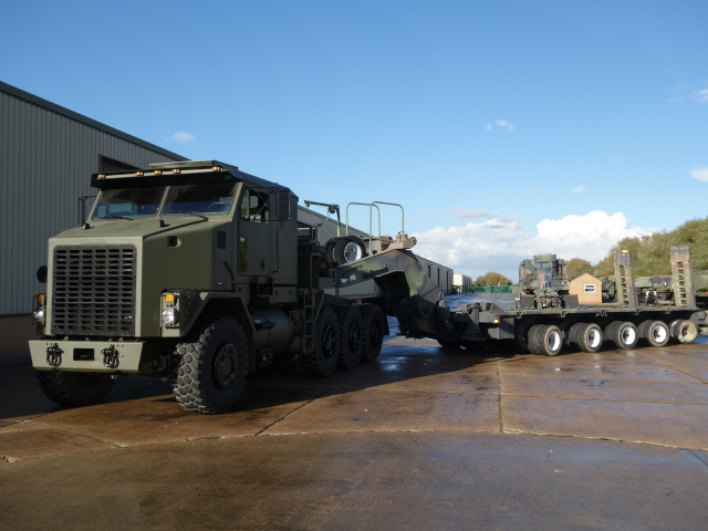 MoD Surplus, ex army military vehicles for sale - M1000 semi-trailer 40 wheel heavy equipment transporter trailer
