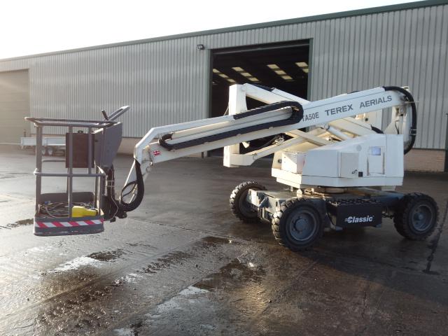 Terex TA50E boom lift - ex military vehicles for sale, mod surplus