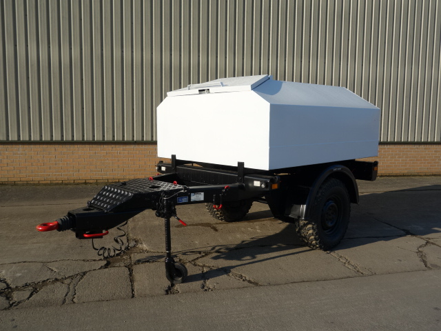 military vehicles for sale - Trailer tanker with new 1500 litre bunded tank