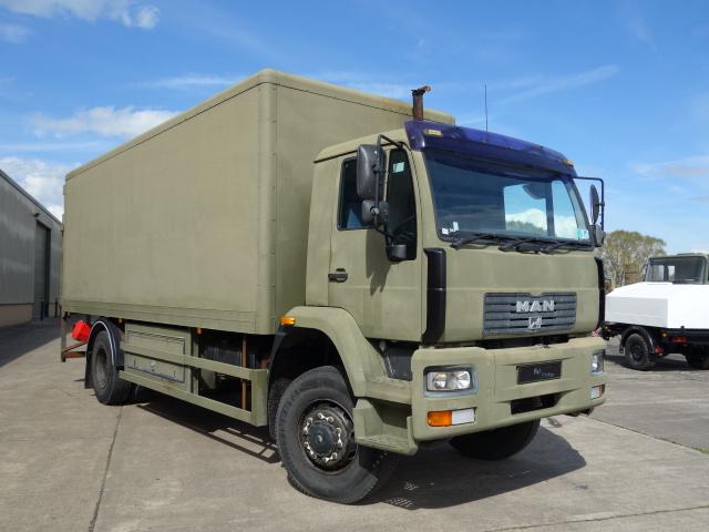 MAN 18.225 4X4 box truck  - ex military vehicles for sale, mod surplus