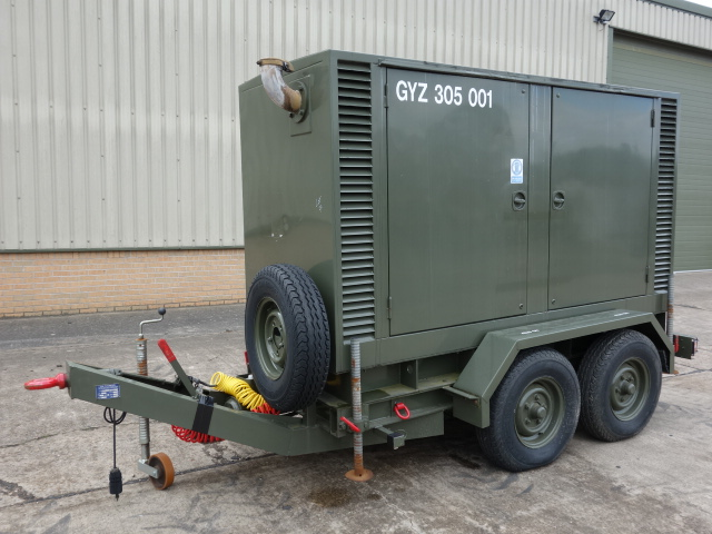 MoD Surplus, ex army military vehicles for sale - Hunting 150Kva Trailer Mounted Generator