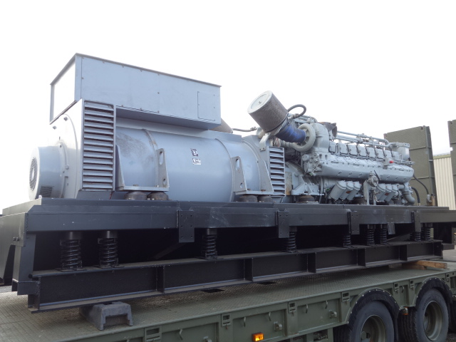 MoD Surplus, ex army military vehicles for sale - MTU 2500 KVA Generator sets
