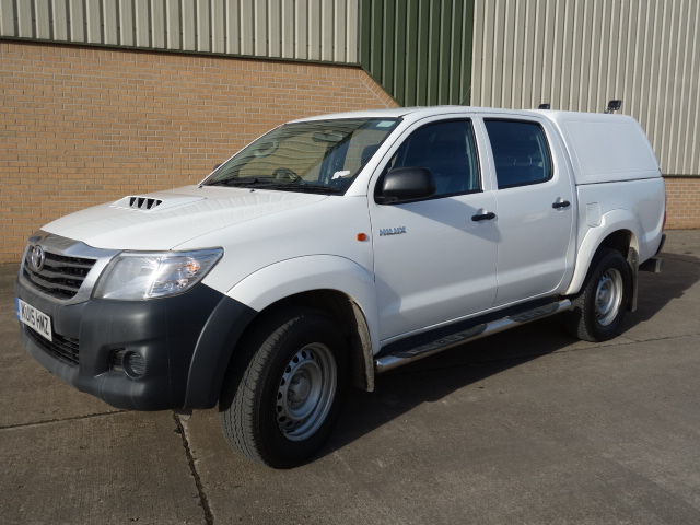 2015 Toyota Hilux 2.5D Double Cab Pickup - ex military vehicles for sale, mod surplus