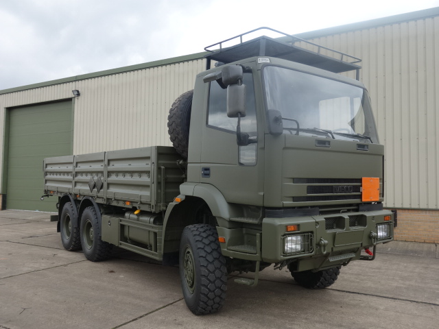 Iveco 260E37 Eurotrakker 6x6 Drop Side Cargo - ex military vehicles for sale, mod surplus