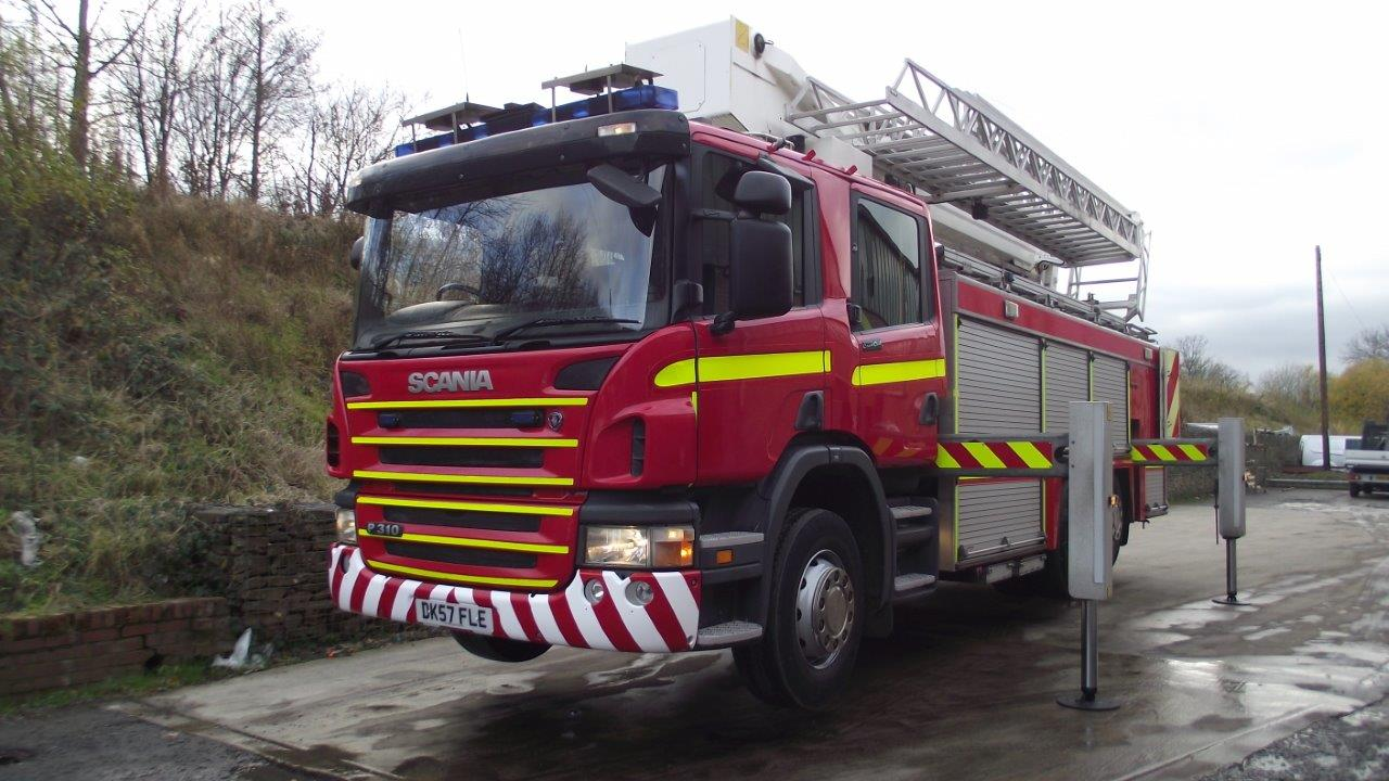 MoD Surplus, ex army military vehicles for sale - SCANIA 310 VEMA Aerial platform and Pump