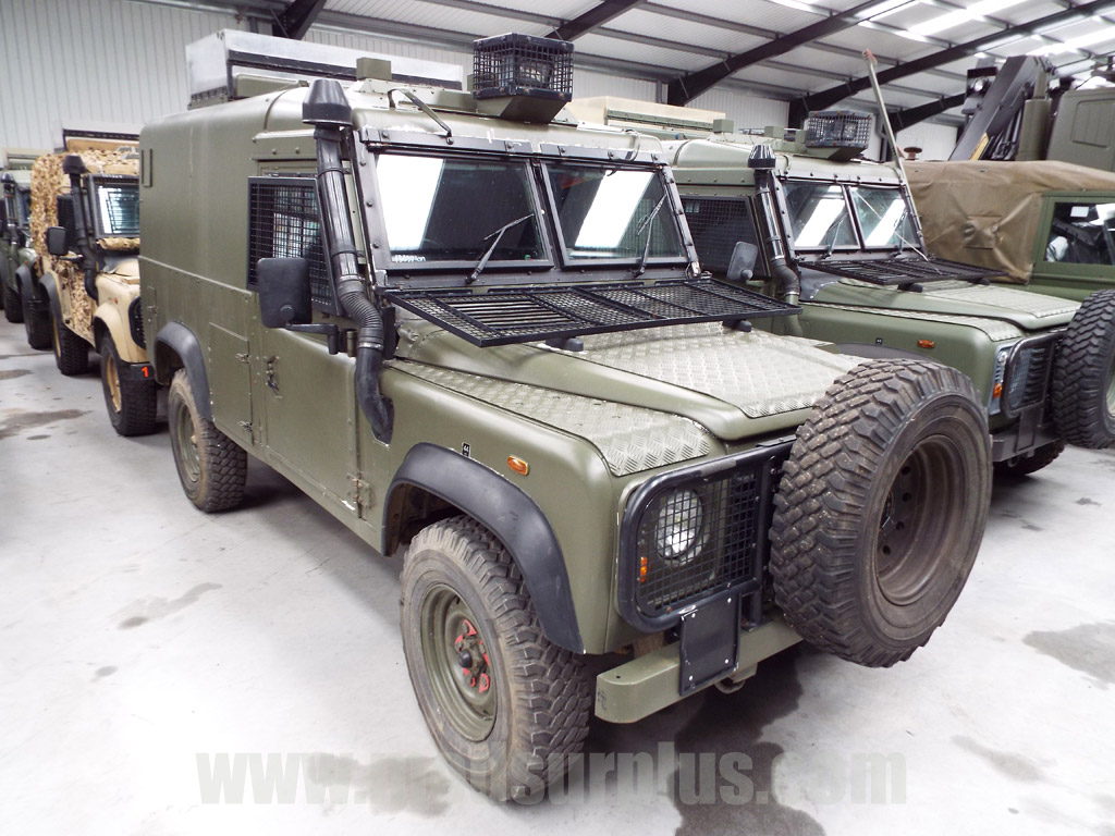military vehicles for sale - Land Rover Snatch 2A Armoured Defender 110 300TDi
