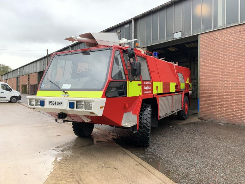 MoD Surplus, ex army military vehicles for sale - Simon Gloster Protector 4x4 Airport Fire Appliance