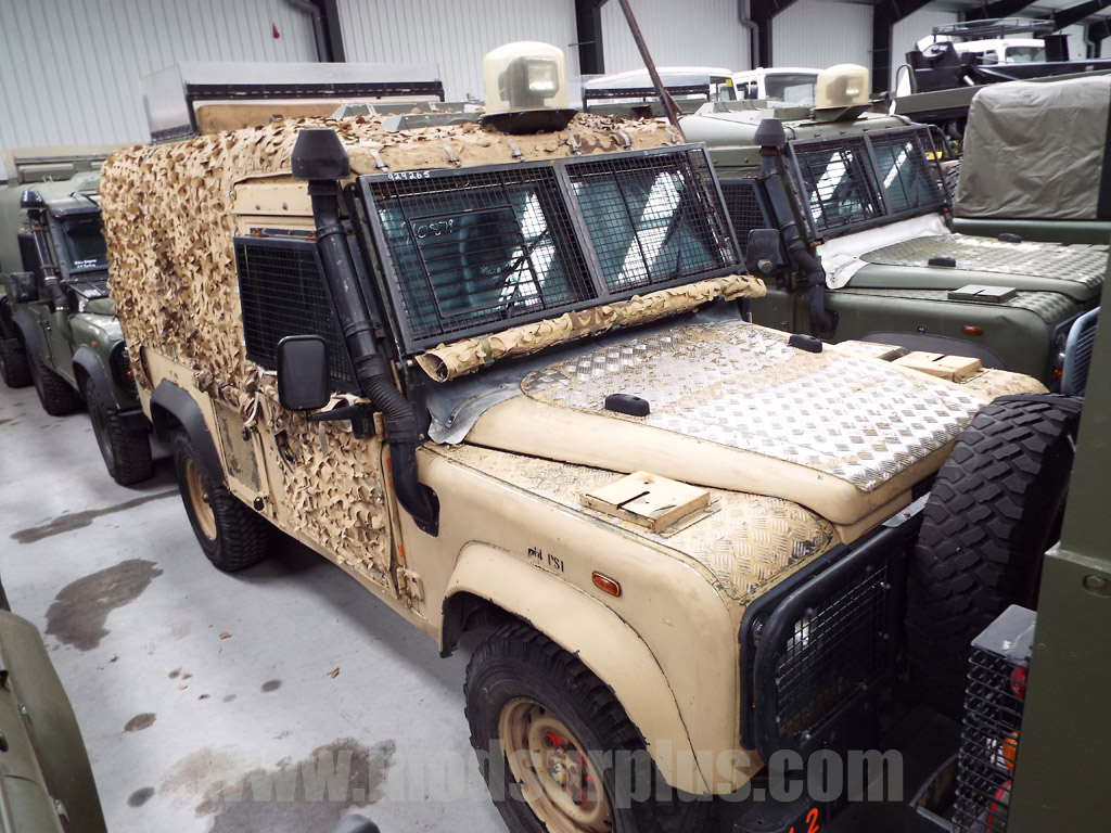 Land Rover Snatch 2A Armoured Defender 110 300TDi  - ex military vehicles for sale, mod surplus