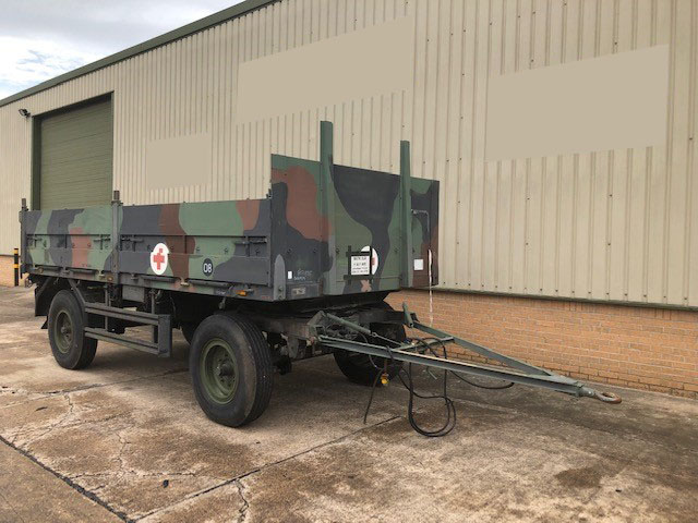 Schmitz 2 Axle Draw Bar Cargo Trailer  - ex military vehicles for sale, mod surplus