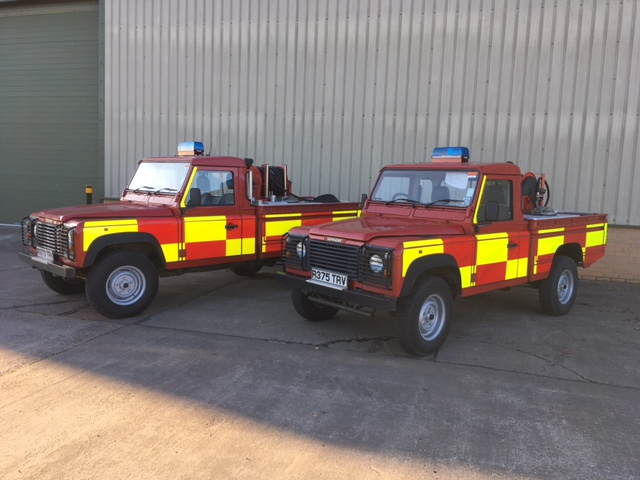 Land Rover 110 fire appliance - ex military vehicles for sale, mod surplus