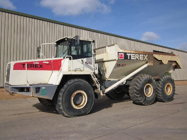 Terex TA 40 dumper - ex military vehicles for sale, mod surplus