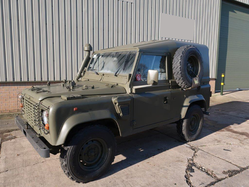 Land Rover Defender 90 Wolf LHD Hard Top (Remus) - ex military vehicles for sale, mod surplus