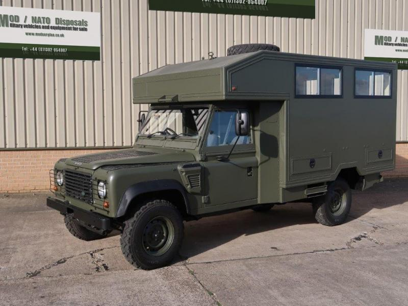 MoD Surplus, ex army military vehicles for sale - Land Rover Defender 130 Wolf Gun Bus (shoot vehicle)