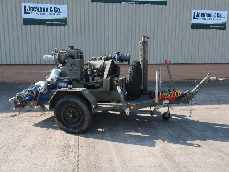 Gilkes 6 inch Water Pump Trailer  - ex military vehicles for sale, mod surplus