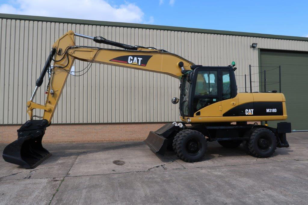 military vehicles for sale - Caterpillar 318D Wheeled Excavator