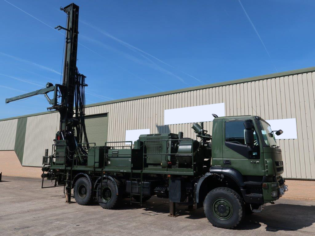 Iveco Trakker 6x6 Dando 12.8 Drilling Rig - ex military vehicles for sale, mod surplus