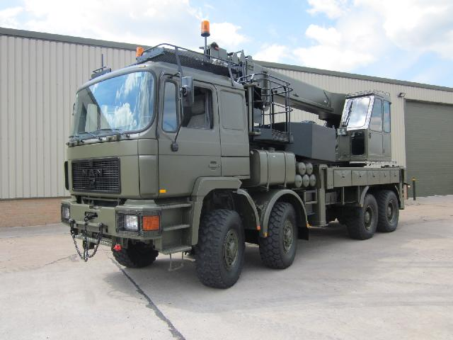 MoD Surplus, ex army military vehicles for sale - Man 41.372 8x8 crane truck
