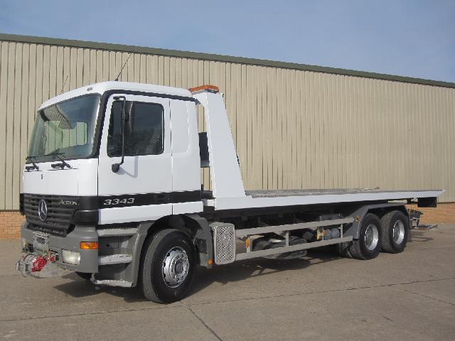 Mercedes Actros 3343 recovery truck - ex military vehicles for sale, mod surplus