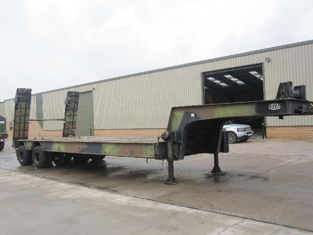 MoD Surplus, ex army military vehicles for sale - Nicolas 45,000 kg tank transporter trailer
