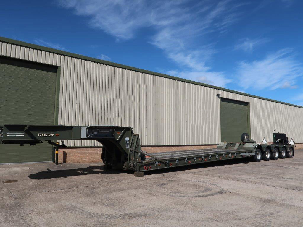 MoD Surplus, ex army military vehicles for sale - King GTL 93/5HS 5 Axle Low Loader Trailer
