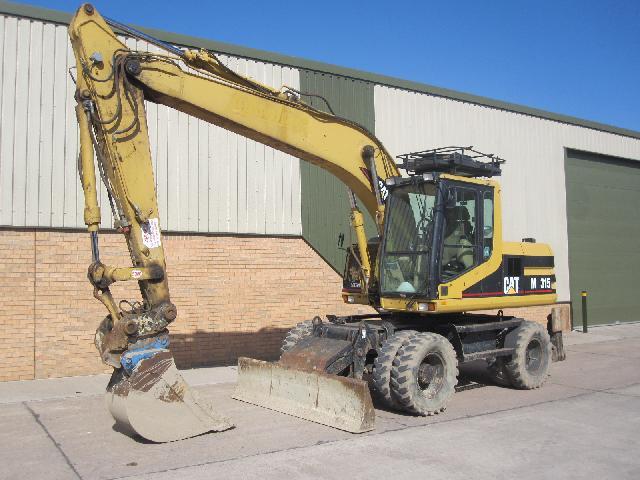 Caterpillar Wheeled Excavator 315 - ex military vehicles for sale, mod surplus