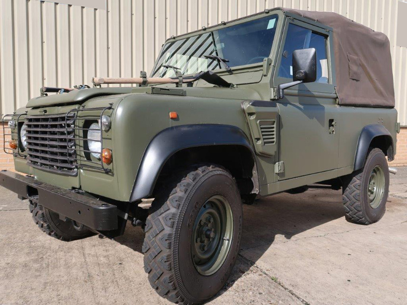 MoD Surplus, ex army military vehicles for sale - Land Rover Defender 90 Wolf LHD Soft Top (Remus)